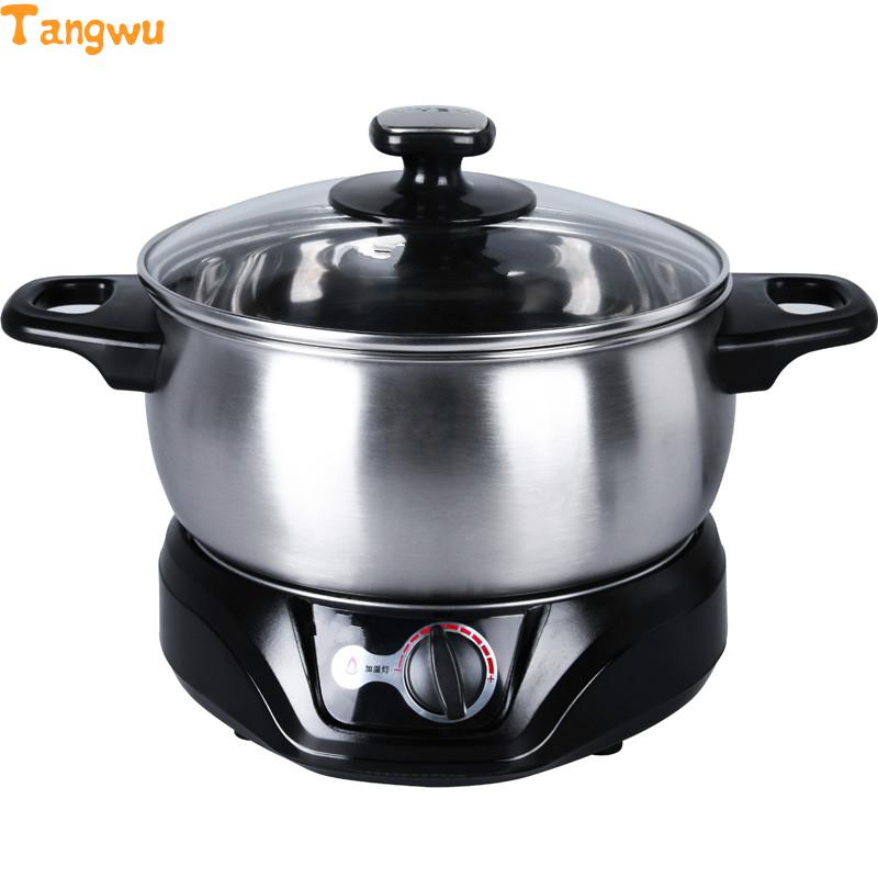 Free shipping Parts 1.5L multifunctional electric skillet Hot stainless steel student Malatang Multi Cookers Slow Cookers skillet skillet unleashed lp cd