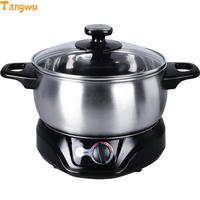 Free shipping Parts 1.5L multifunctional electric skillet Hot stainless steel student Malatang Multi Cookers Slow Cookers