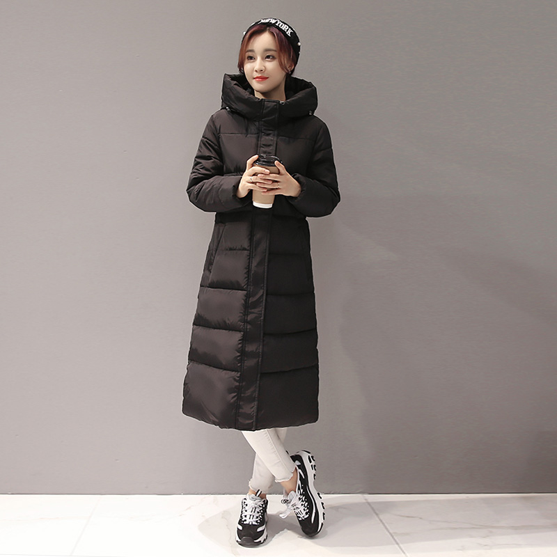 2016 Winter Coat Women Jacket Maxi Long Parkas Solid Hooded Cotton Padded Coat Black Jackets Elegant Wadded Warm Coats Tops сегвей hoverbot g 9 camouflage