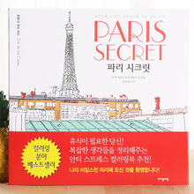 96 page Paris Secret  coloring books for adults kids Relieve Stress Kill Time Graffiti Painting Book libros 25cm x 25cm