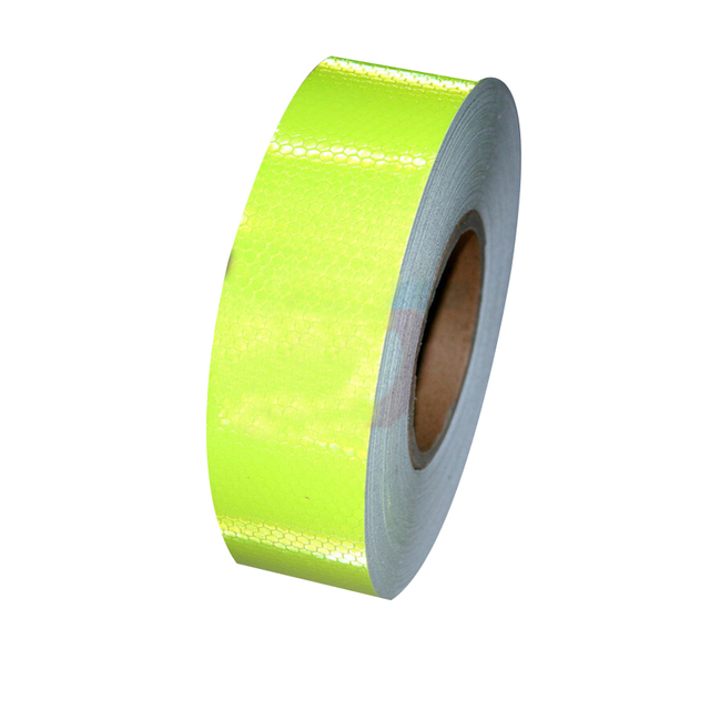 (30 Roll/LOT) Wholesale 45m*5cm Safety Reflective Tape PATCH AND INDUSTRIAL Adhesive Hazard Warning Tape