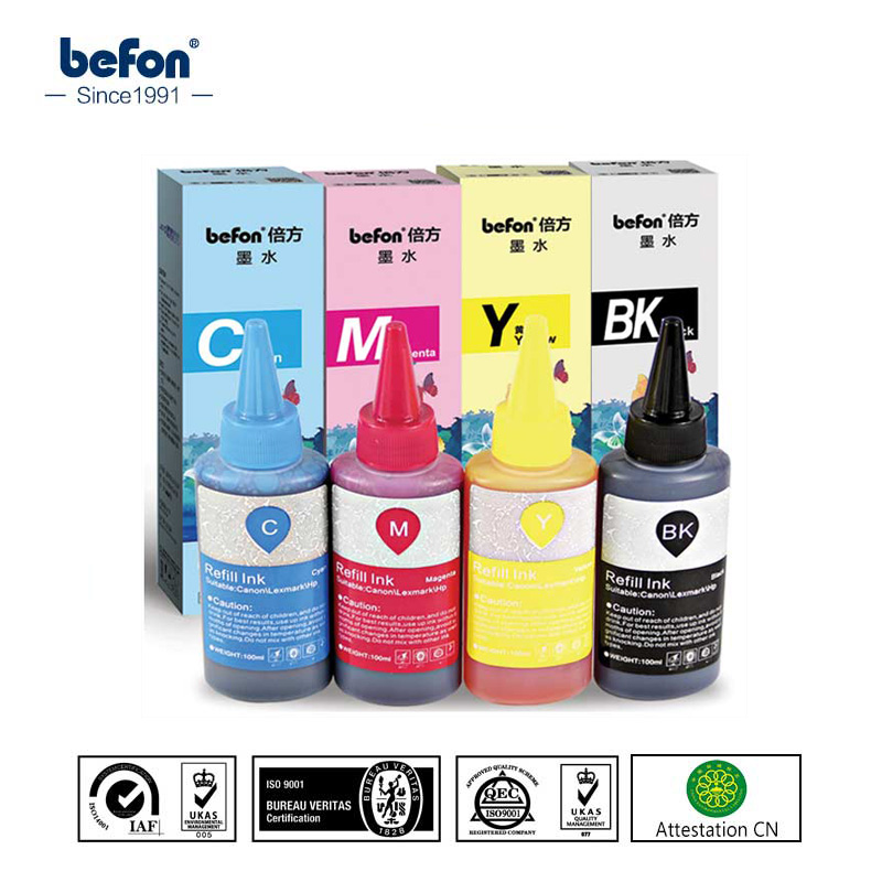 befon Refilled Color Dye <font><b>Ink</b></font> Compatible for <font><b>Epson</b></font> R Series tinta bottle <font><b>ink</b></font> R230 R330 <font><b>R270</b></font> R210 R290 1390 ME330 ME300 image
