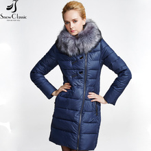Snowclassic Women's Winter Jacket 2016 Faux Fur Collar Jacket Padded Hooded Winter Jacket Women 14220am
