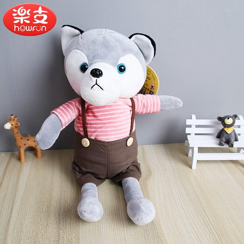 Simulation Husky chien en peluche cadeau pour enfants bébé jouet anniversaire cadeau en peluche en peluche