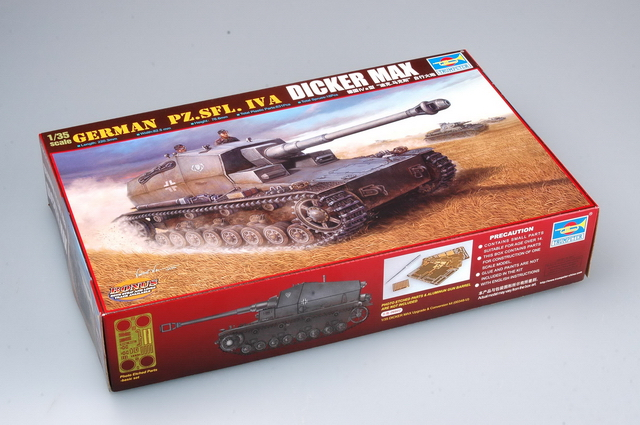 Trumpeter MODEL 1/35 SCALE Military Models #00348 German Pz.Sfl. IVa 'Dicker Max' Plastic Model Kit