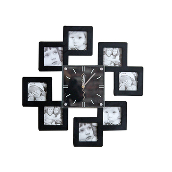 European Minimalist White Combination Photo Frame Wall Clock Craft Clock Creative Clock Decoration Home Shop Wall Hangings Decor
