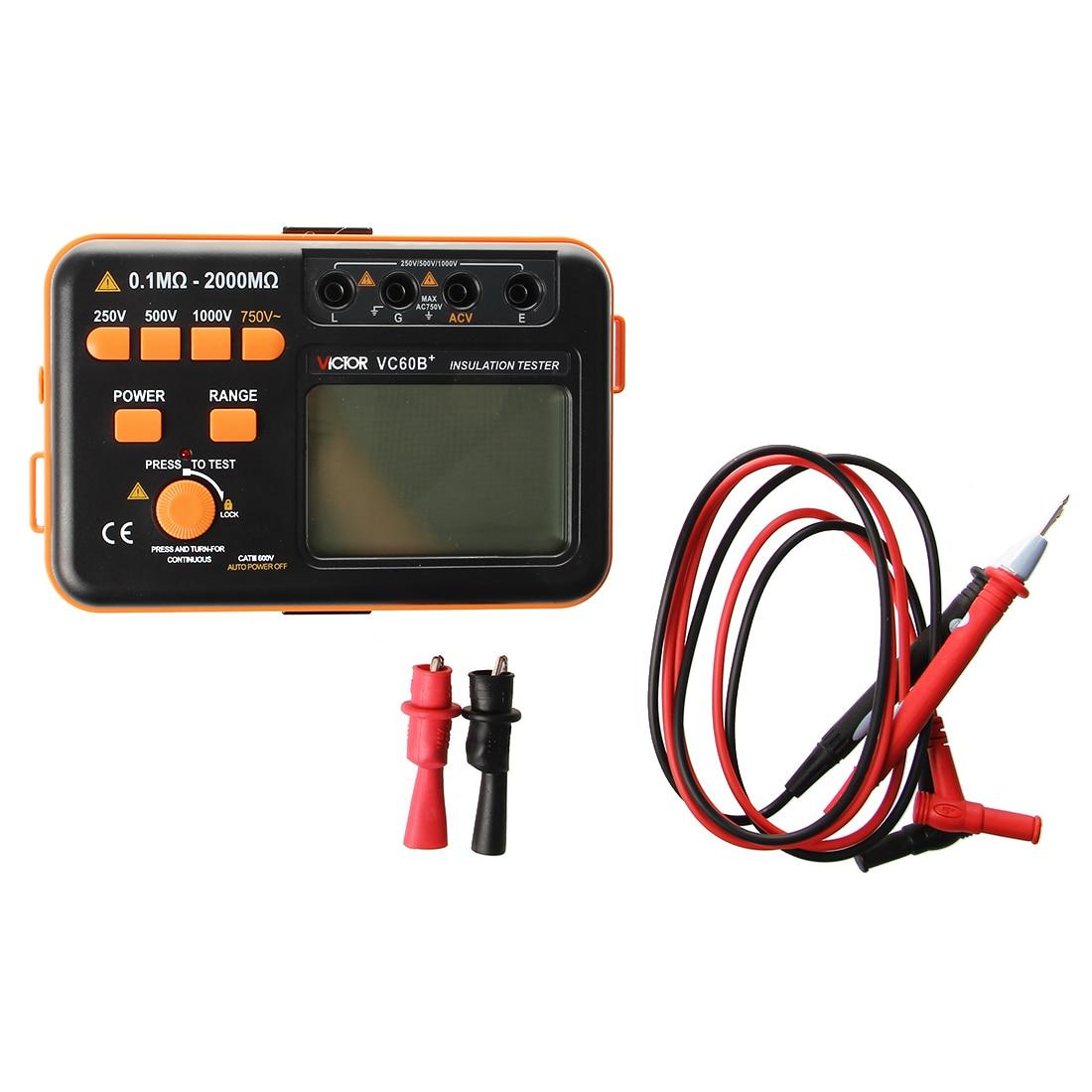 LIXF + VC60B Megohmetro Aislamiento Resistance Tester Meter Display