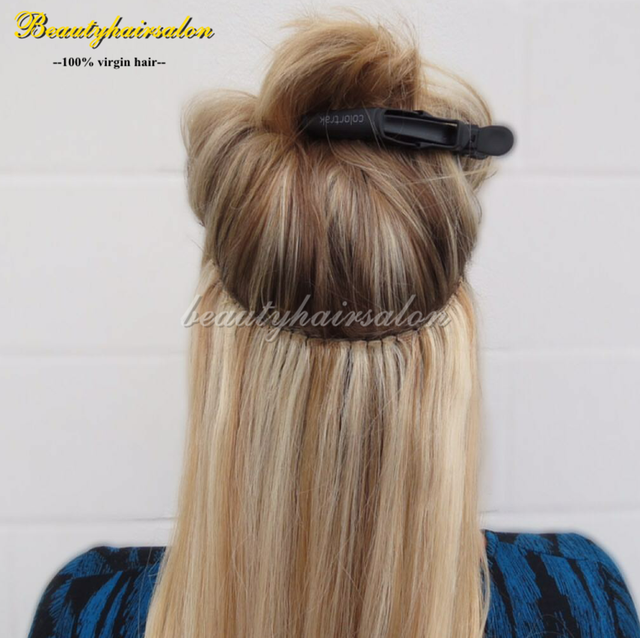 16 30 Color 6 613 Blonde Flip Halo Indian Remy Hair Extensions No