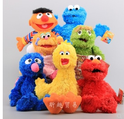 Free Shipping Sesame Street 7 Colors Plush Toy Dolls Monster Ernie Big Bird  Grover Elmo Cookie Stuffed Doll For Children Birthd Dolls- AliExpress