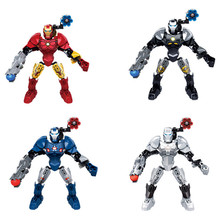 4pcs/Set Star Wars Marvel Super hero Action Figure Avengers iron Man Building Blocks Toys For Children 80pcs lot infinity war figure iron man marvel super hero avenger ironman set models building blocks toys children gift sy1103