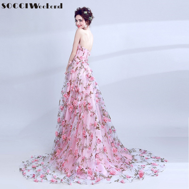 SOCCI Weekend Pink Sweetheart Evening Dress 2017 Formal Wedding ...