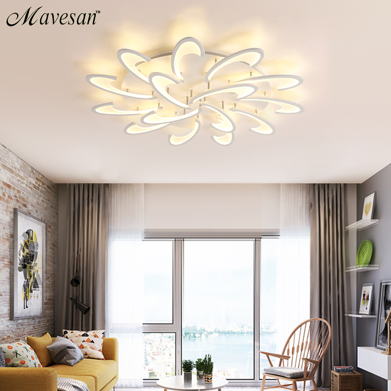 Lights & Lighting Ceiling Lights & Fans Remote Control Led Ceiling Light With Ultra-thin Acrylic Lamp Ceiling For Living Room Bed Room Flush Mount Lamparas De Techo