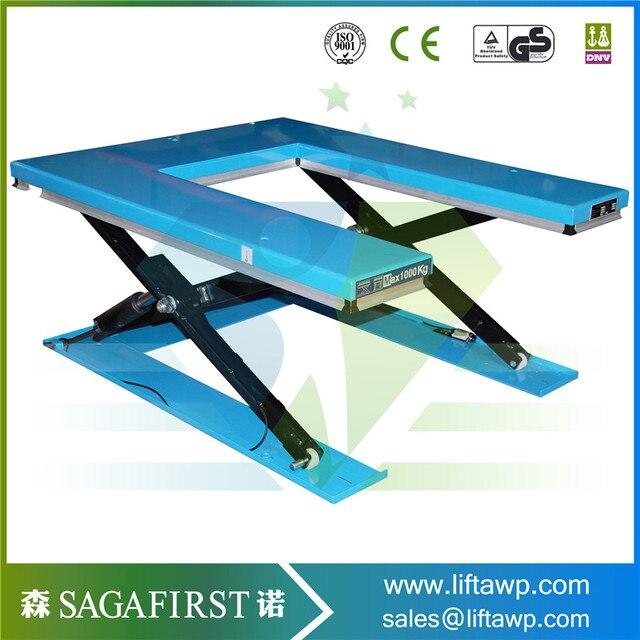Blue Color U Type Scissor Lift Table
