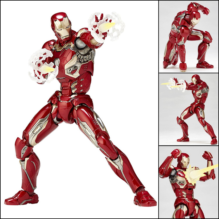 Action Figure Toys Iron Man MK45 17cm PVC Toys Movable Model Super Hero of Avengers 2 Boxed Ornaments 2017 new avengers super hero iron man hulk toys with led light pvc action figure model toys kids halloween gift
