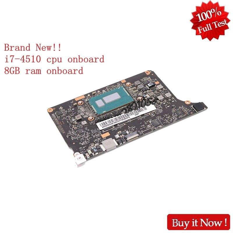 Marque Nouveau VIUU3 NM-A074 5B20G38213 Carte Principale Pour Lenovo yoga 2 pro Ordinateur Portable carte mère i7-4510U SR1EB 8 gb ram à bord