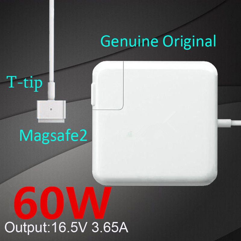 цена NEW Original Magnetic T-tip 60W Laptop MagSaf* 2 Power Adapter Chargers For Apple MacBook Pro Retina 13'' A1425 A1435 A1502