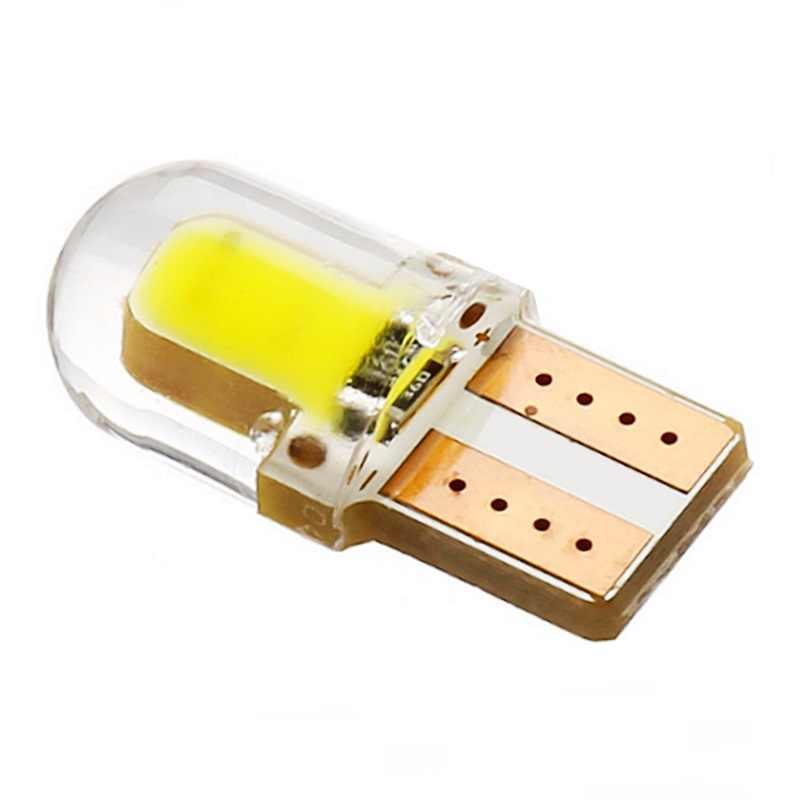 1 pçs t10 escudo de silicone cob led lâmpada do carro w5w 501 168 sílica gel auto cunha luz lateral estacionamento placa de licença bulbo 12 v estilo do carro