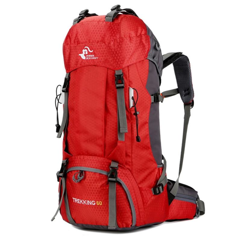 все цены на Free Knight Men Outdoor Backpack 60L Large Capacity Camping Sports Bag Waterproof  Male Travel Climbing Backpacks Rucksack онлайн