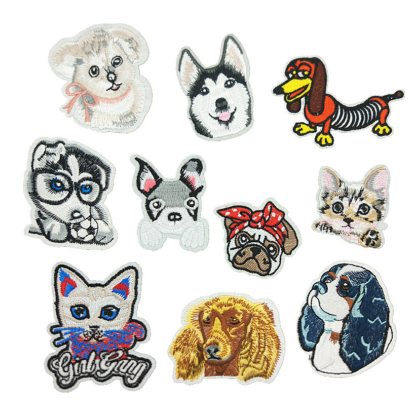 New animal dog computer embroidery cloth stickers children clothing accessories accessories patch D-002