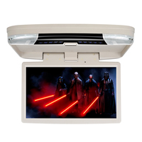 15 6 Car Bus Flip Down HD Overhead Screen Ceiling Roof Mount Monitor Multimedia DVD Player