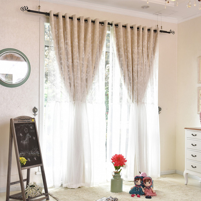 Custom Made Morden Blackout Curtain+voile Sheer Tulle Curtains For Living  Room Bedroom Curtain Window
