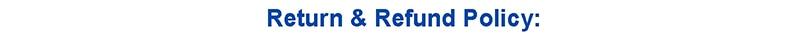 Return Refund Policy