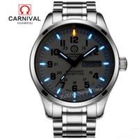 New Double Calendar Date Tritium Light Watch Military Diving Sports Quartz Watches Full Steel Luxury Brand