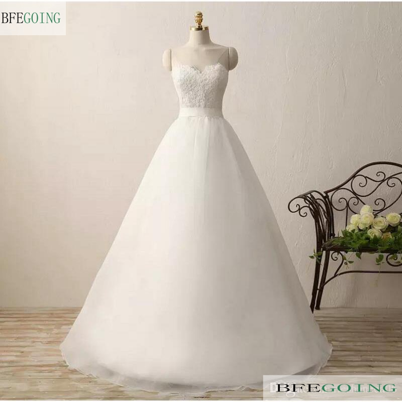Ivory Organza Satin  Lace Sweetheart  A-line Wedding Dresses  Chapel Train Lace Up  Bridal Gown Custom Made