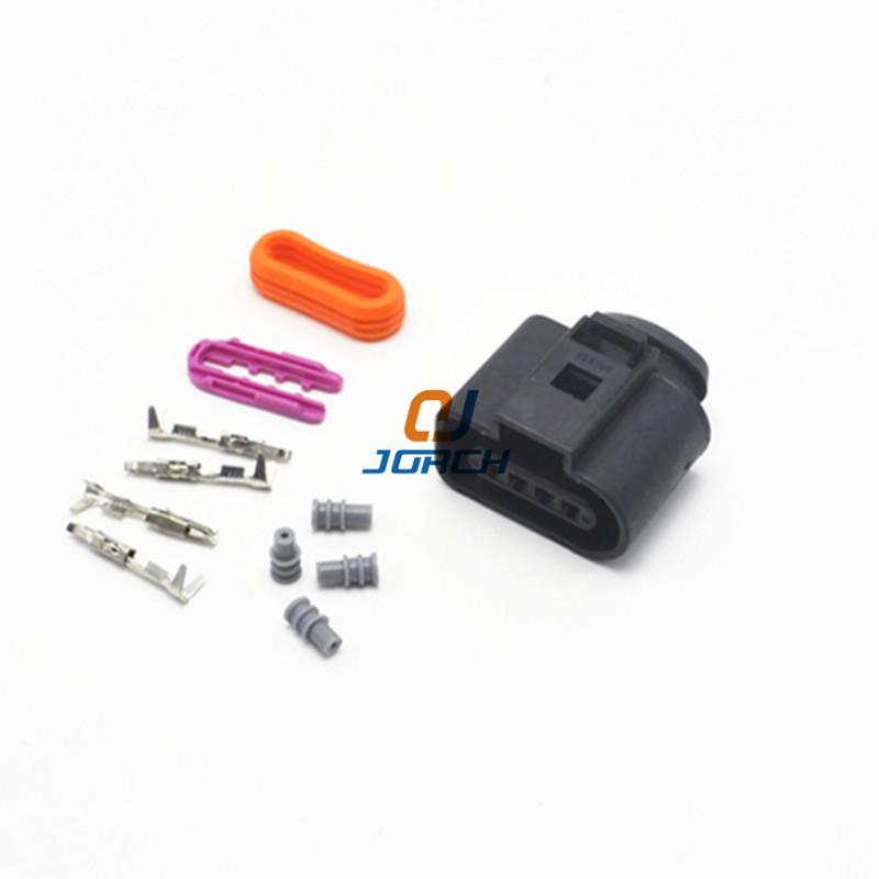 <font><b>10</b></font> sets kits 4 <font><b>Pin</b></font> Way AUDI VW Skoda VAG Automotive spule Verlängerung adapter kabelbaum Stecker 1J0973704 image