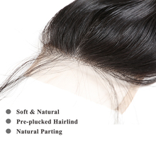 10Pcs/Lot Brazilian Straight Human Hair Lace Closure 4×4 Free Part / Middle Part Natural Color Remy Hair Closure