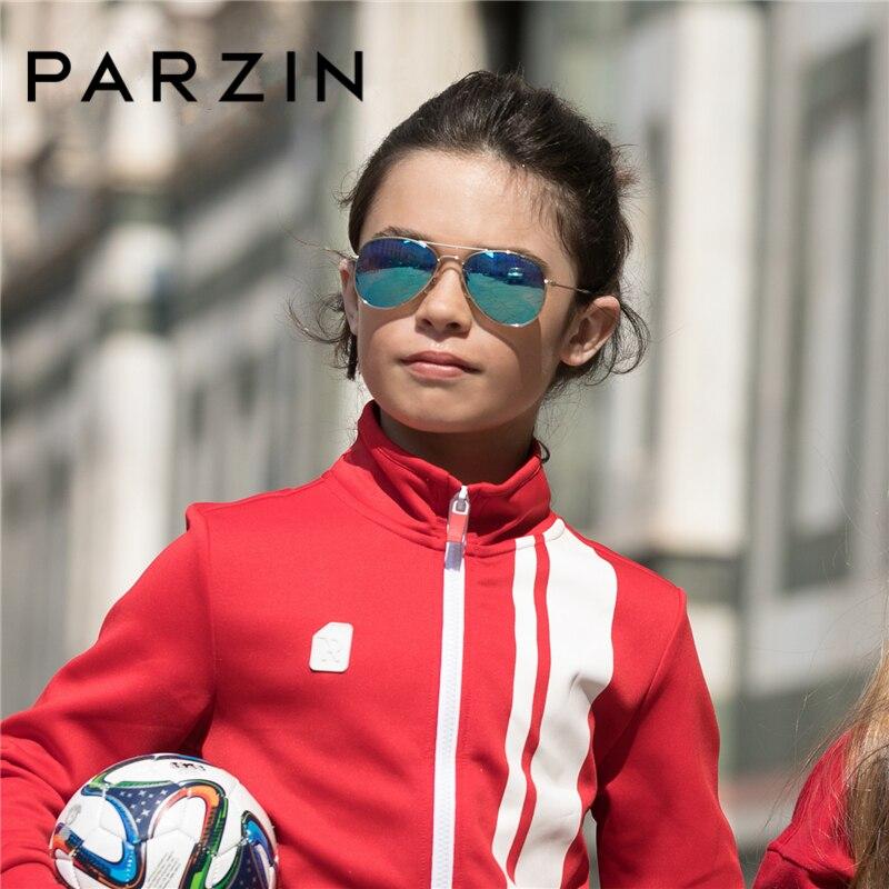 PARZIN Brand Kids Pilot Polarized Sunglasses Children High Quality Real Anti UV400 Glasses For CoolBaby Pilot