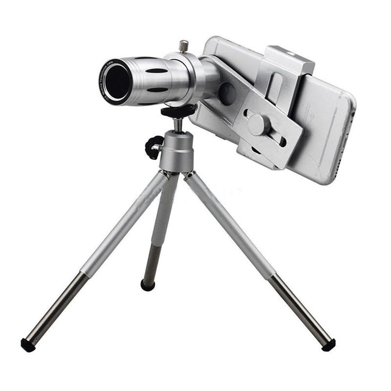 Universal 2016 12X Zoom Optik Lensa Kamera Ponsel Teleskop kit dengan - Aksesori dan suku cadang ponsel - Foto 2