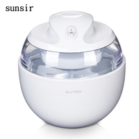 sunsir 220V home ice cream maker 0.6L portable ice maker Fashion fruit soft serve ice cream machine for home