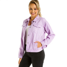 Women Basic Coats Autumn Denim Jacket Vintage Long Sleeve Jeans Jackets Slim Female Coat Casual Girls Outwear Tops bomber jacket стоимость