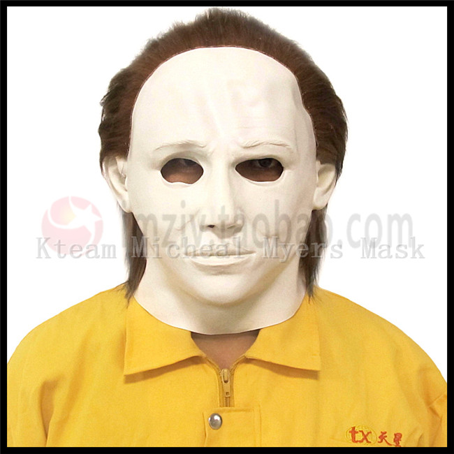 Free shipping Party Cosplay Adults Realistic Micheal Myers mask latex halloween horror mask Movie Scary Face Head Mask Full Face