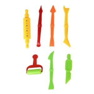 Image 4 - Molde de plastilina DIY para niños, 26 Uds., Kit de arcilla de modelado, juego de herramientas para masa de Baba, juego de cortadores, moldes de juguete para regalo de chico
