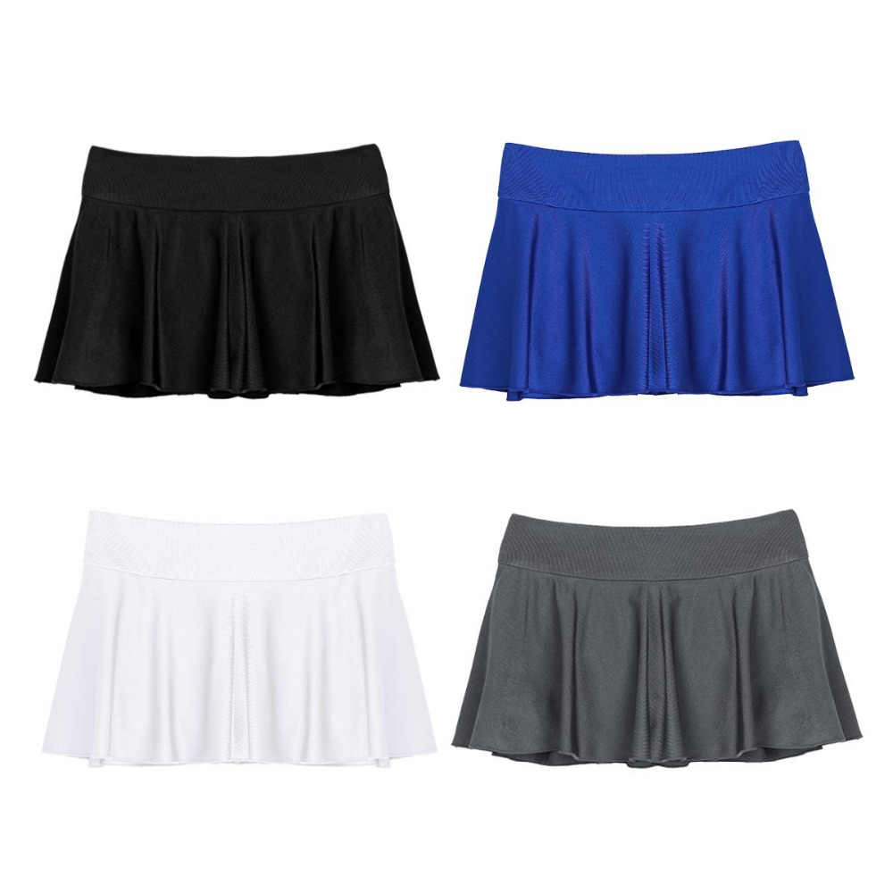 Модные женские сексуальное мини-юбки эластичные активный мини-шорты с внутренними шортами обтянутый легкие юбки для производительности