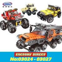 XingBao 03024 03025 03026 03027 The All Terrain Vehicle Set Cars Kits Building Blocks Self Locking Bricks lepin Toys in stock