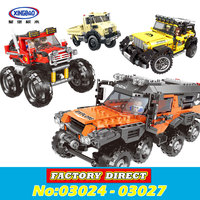 XingBao 03024 03025 03026 03027 The All Terrain Vehicle Set Cars Kits Building Blocks Self Locking Bricks lepin Toys in stock