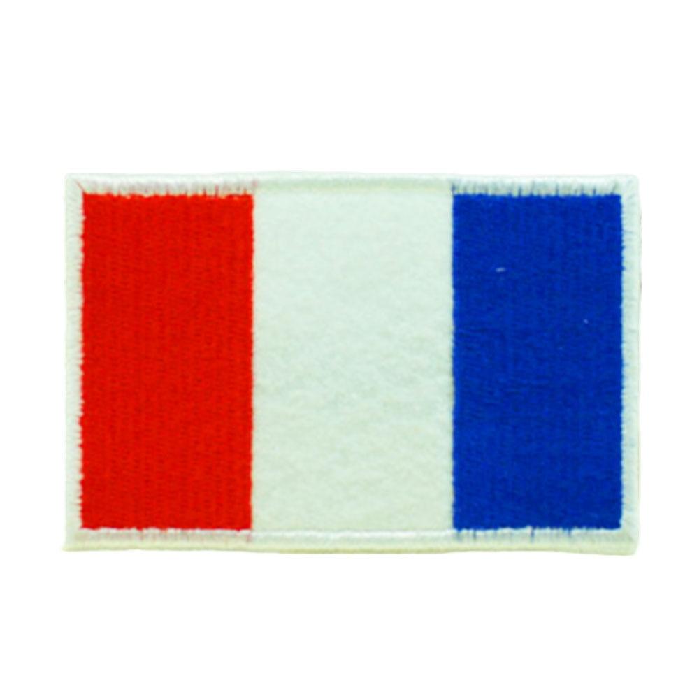 Нашивки с национальным флагом для одежды, нашивки с национальной эмблемой, нашивки с вышивкой, наклейки для одежды, нашивки с изображением страны, железные нашивки - Цвет: France