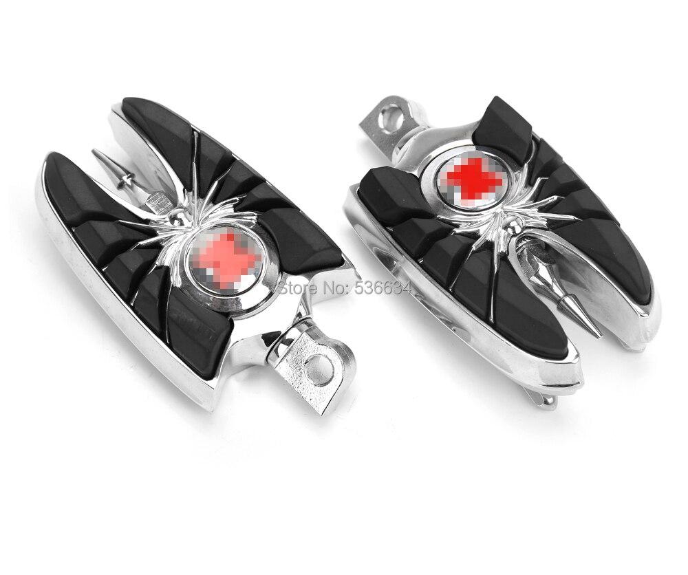 Черный анодируйте отделку ноги Pedel отдых для Harley Универсальный педаль