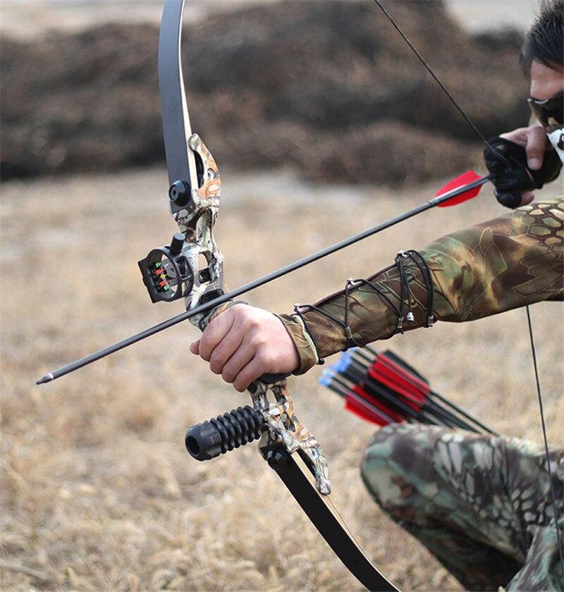 54 pouces arc classique 30-50 lbs longueur de hauteur 17 pouces arc de chasse américain pour tir à l'arc Sport de plein air pratique de chasse