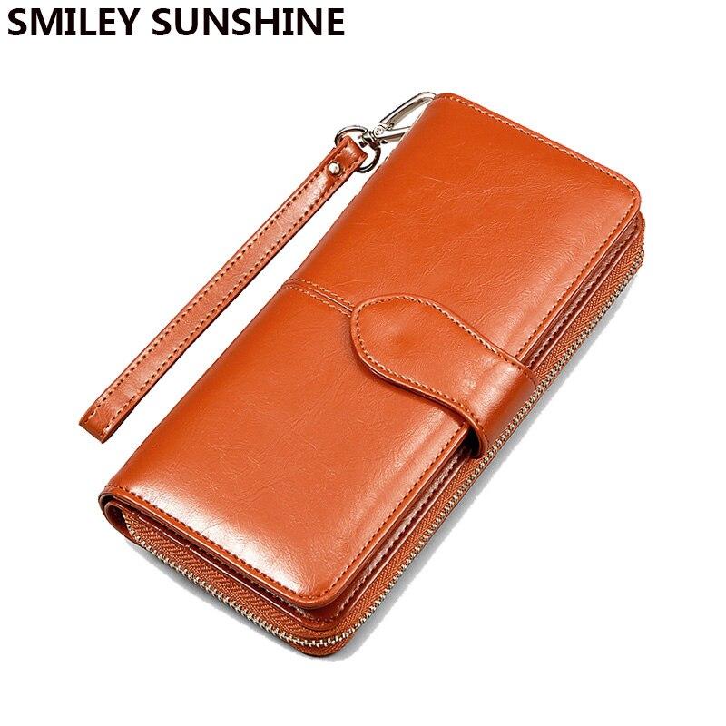 SMILEY SUNSHINE Módní dámské peněženky Patentovaná kožená - Peněženky