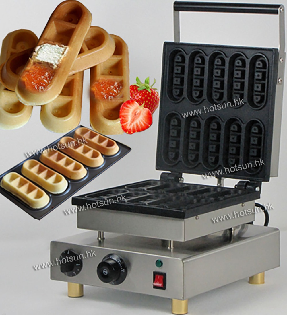 Commercial 110V 220V Electric Non-stick Lolly Waffle Sticks Iron Maker Machine Baker commercial non stick 110v 220v electric 4pcs lolly waffle on a stick maker iron machine with drip tray