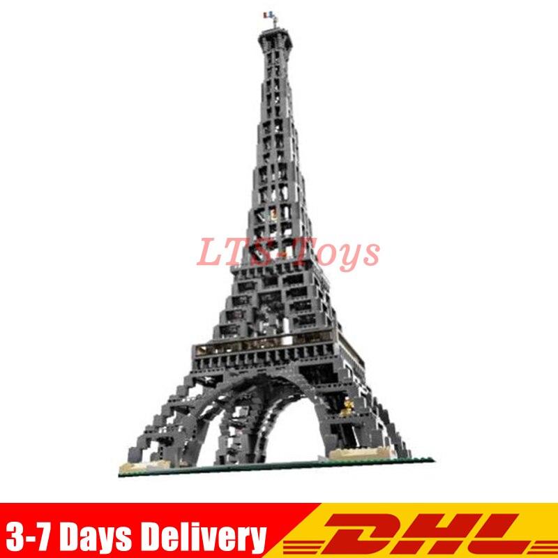 2018 New 3478 PCS LEPIN 17002 City Street The Eiffel Tower Model Building Assembling Brick Toys Compatible 10181 in stock new lepin 17004 city street series london bridge model building kits assembling brick toys compatible 10214