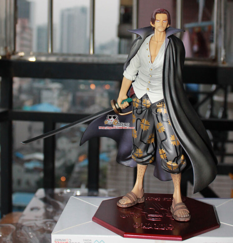 Hot Sale 26cm Anime Shanks One Piece Action Figures Anime PVC brinquedos Collection Figures toys with Retail box Free Shipping 2017 harry potter hogwarts magical wand 36cm action figures pvc brinquedos collection figures toys with retail box