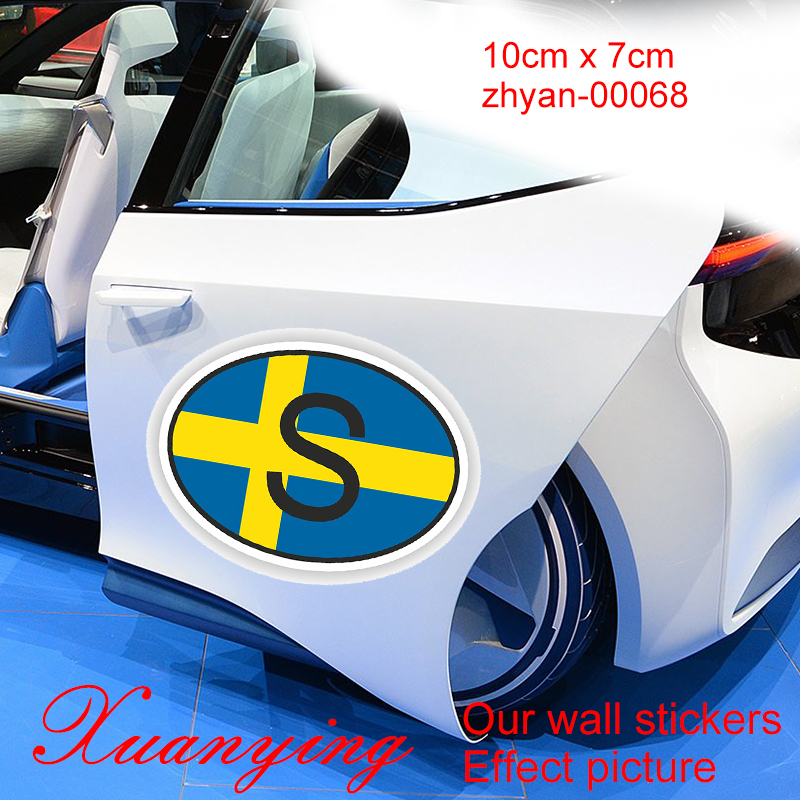 Cartoon Funny 3D Car-covers Sweden Country Code Oval With Flag Sticker Bumper Decal Car Car-Styling motorcycle Decor Sticke JDM argentina ra for republica argentina in spanish and argentinian flag car bumper sticker decal oval