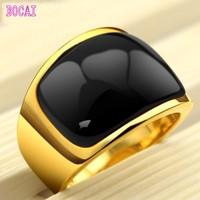 Moonlight Silver Ring men Korean fashion Metrosexual black jewelry titanium gold ring domineering