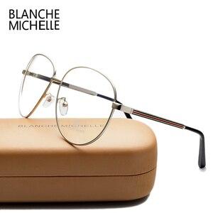 Image 3 - Lunettes de luxe pour hommes et femmes, montures de luxe en métal uni, à rayures colorées, surdimensionnées, avec boîte, nouvelle collection lunettes de mode