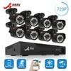 ANRAN 8CH HD 1080N AHD DVR Kit 720P 1800TV 24 IR Day Night Outdoor Waterproof Camera